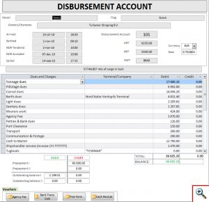 Главная форма «Disbursement Account»